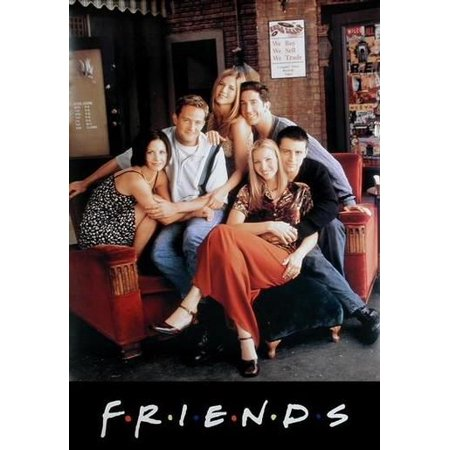 Friends - TV Show Poster / Print (The Gang - Chilling On Couch At The Central Perk Cafe) (Size: 27