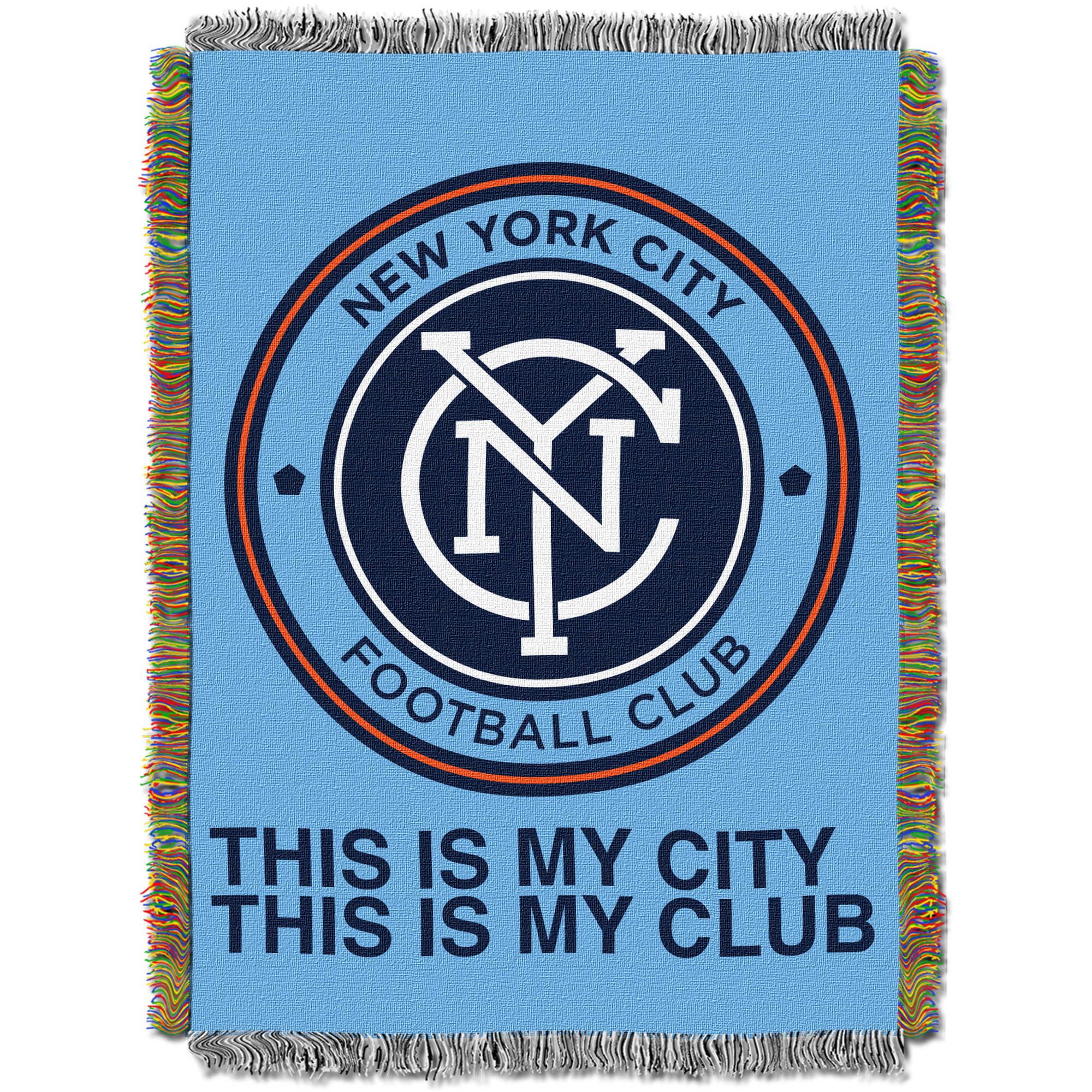 "MLS New York City FC Handmade 48"" x 60"" Woven Tapestry Throw"