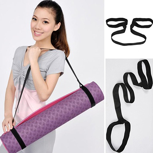 Girl12Queen Durable Yoga Mat Carry Sling Carrier Shoulder Strap Belt Assistant Tool