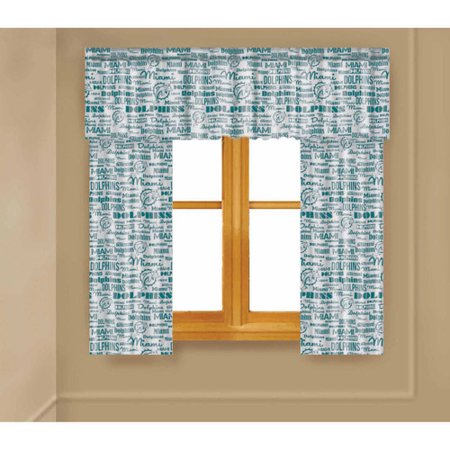 NFL Miami Dolphins Window Curtain Panels