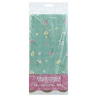 Floral Fairy Sparkle Plastic Tablecover