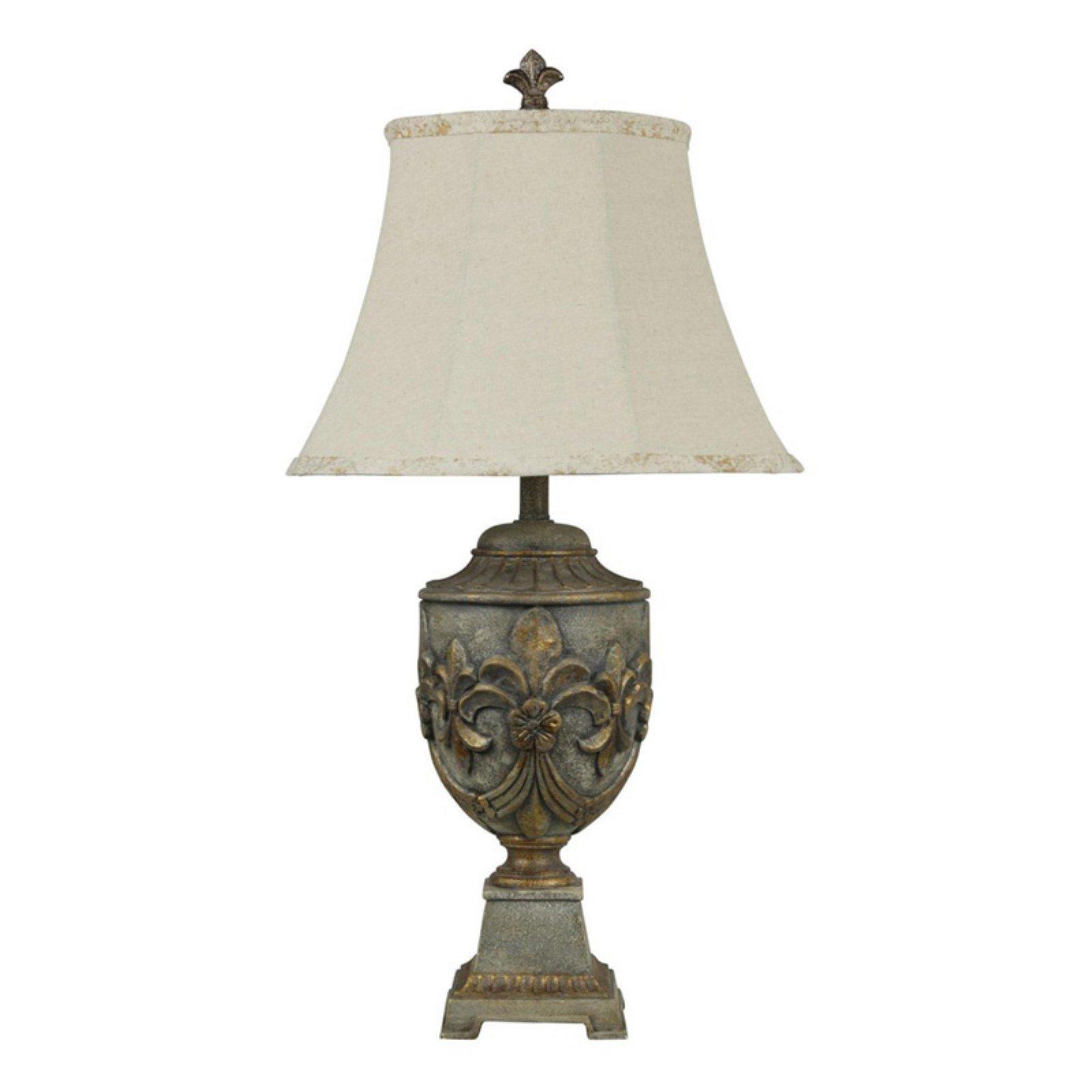 Stylecraft Fleur De Lis Table Lamp In Versailles Finish Walmart Com