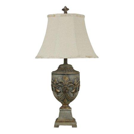 Stylecraft Fleur De Lis Table Lamp In Versailles Finish