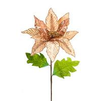 Melrose 28.5 in. Poinsettia Stem - Set of 12
