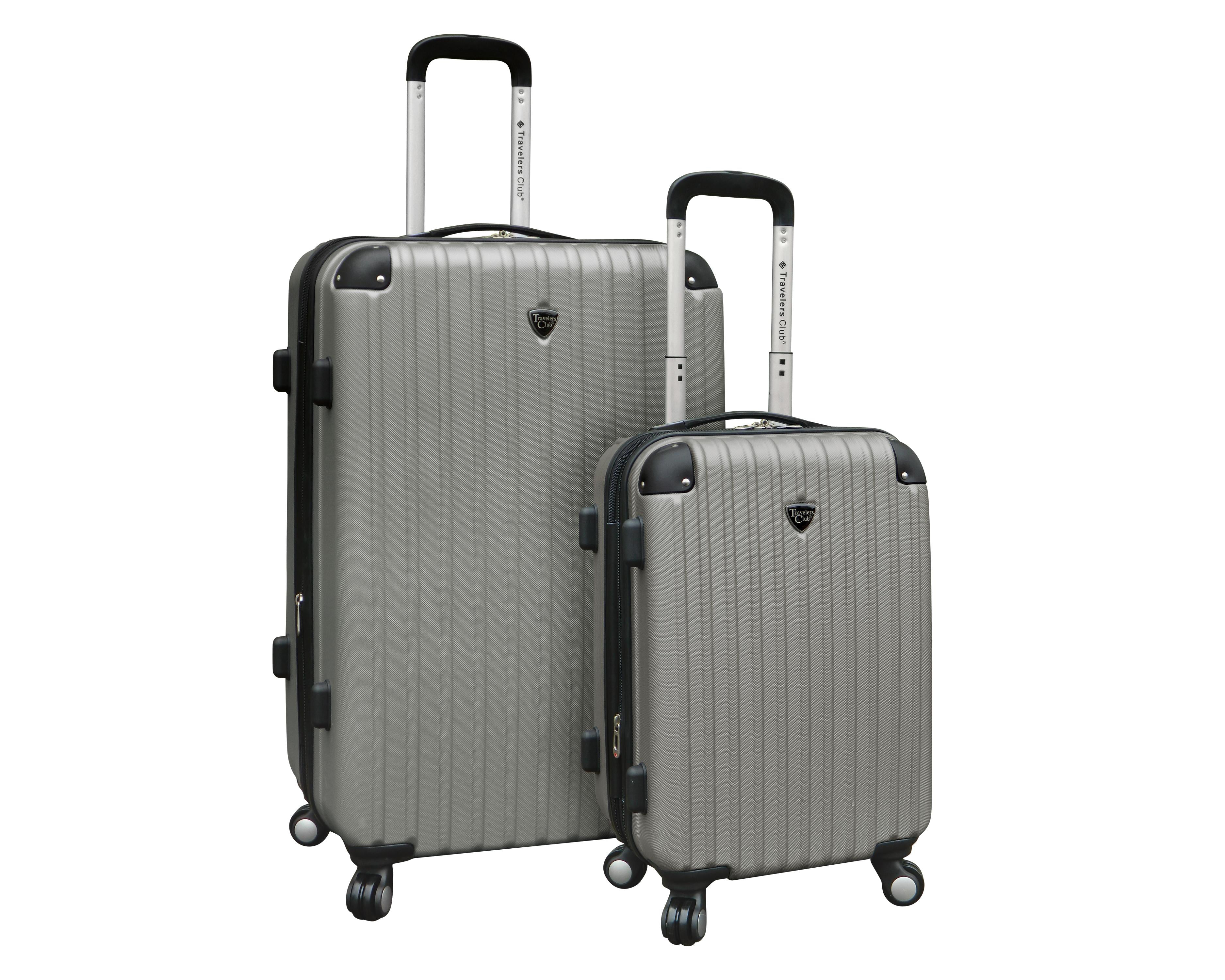 Travelers Club 2 pc. Expandable hard-side luggage set - Walmart.com