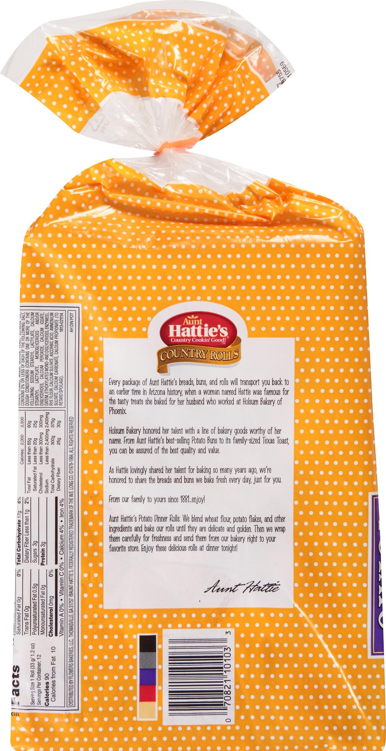 Aunt Hattie S Country Rolls Potato Dinner Rolls 14 Oz Bag Walmart Com