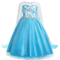 Halloween Costumes for Girls Princess Elsa Dress Up Costumes for 3-8T Girls