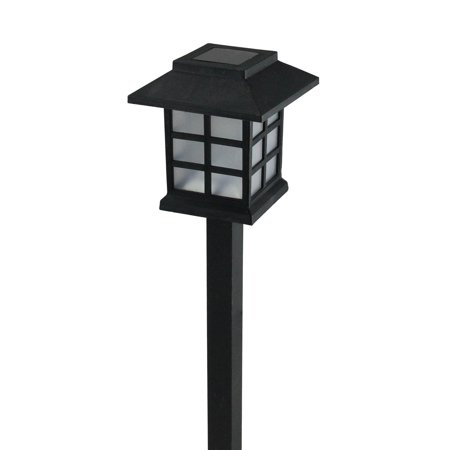 "11.25"" Black Chinese Lanterns Solar Light with White LED Light and Lawn Stake - image 2 of 2"