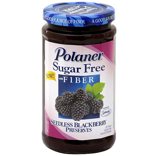 Polaner Seedless Blackberry Sugar Free Preserves, 13.5 oz (Pack of 12)