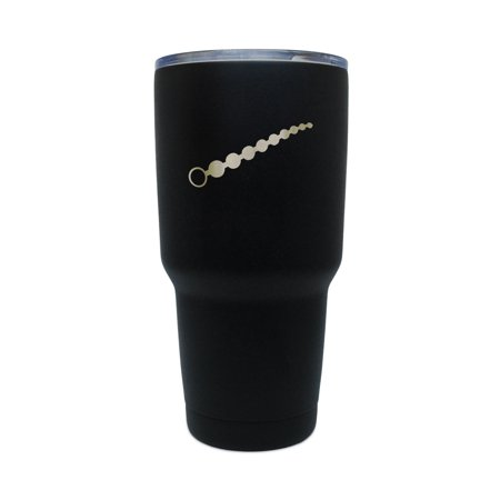Anal Beads Black Stainless Steel Tumbler  30 Oz Insulated Tumbler  Laser Etched In Usa