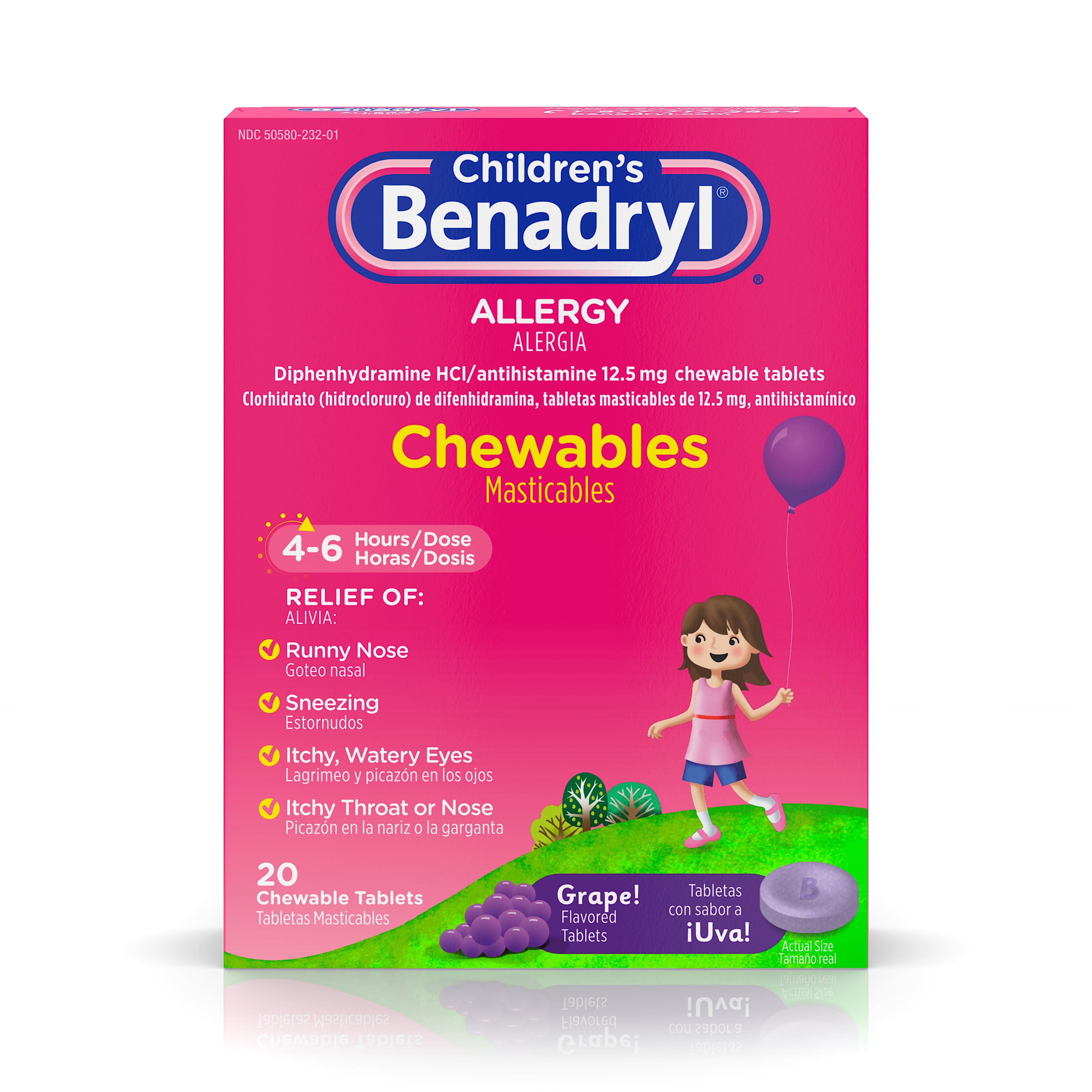 Chewing benadryl
