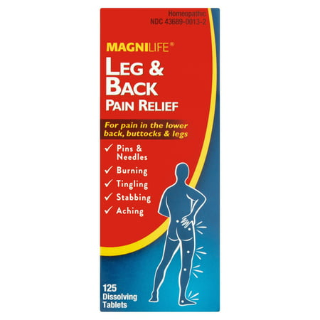 MagniLife Leg & Back Pain Relief Dissolving Tablets, 125