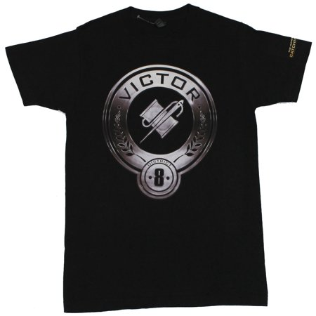 The Hunger Games Mens T-Shirt - District 8 Thread and Needle Image