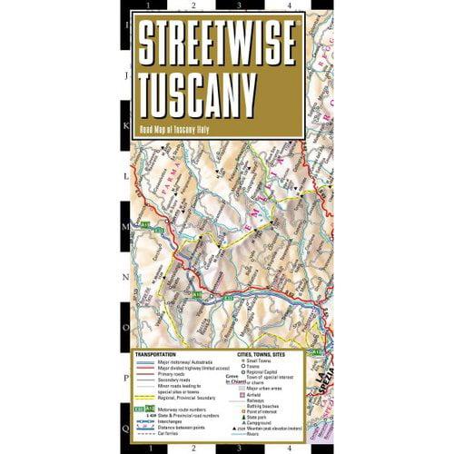 Streetwise Tuscany: Road Map of Tuscany, Italy