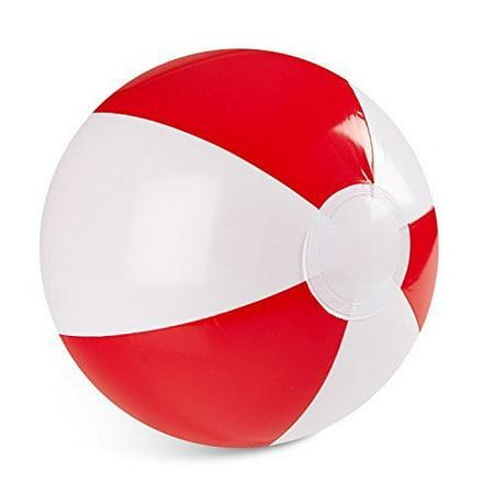 Red And White Beach Ball (Dozen 12
