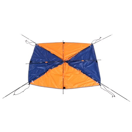4-person Inflatables Boat Sun Shelter Sailboat Awning Top Cover Fishing Tent Sun Shade Rain Canopy for Seahawk Inflatable Kayak Canoe Boat Top Kit with - Portable Boat Shelter
