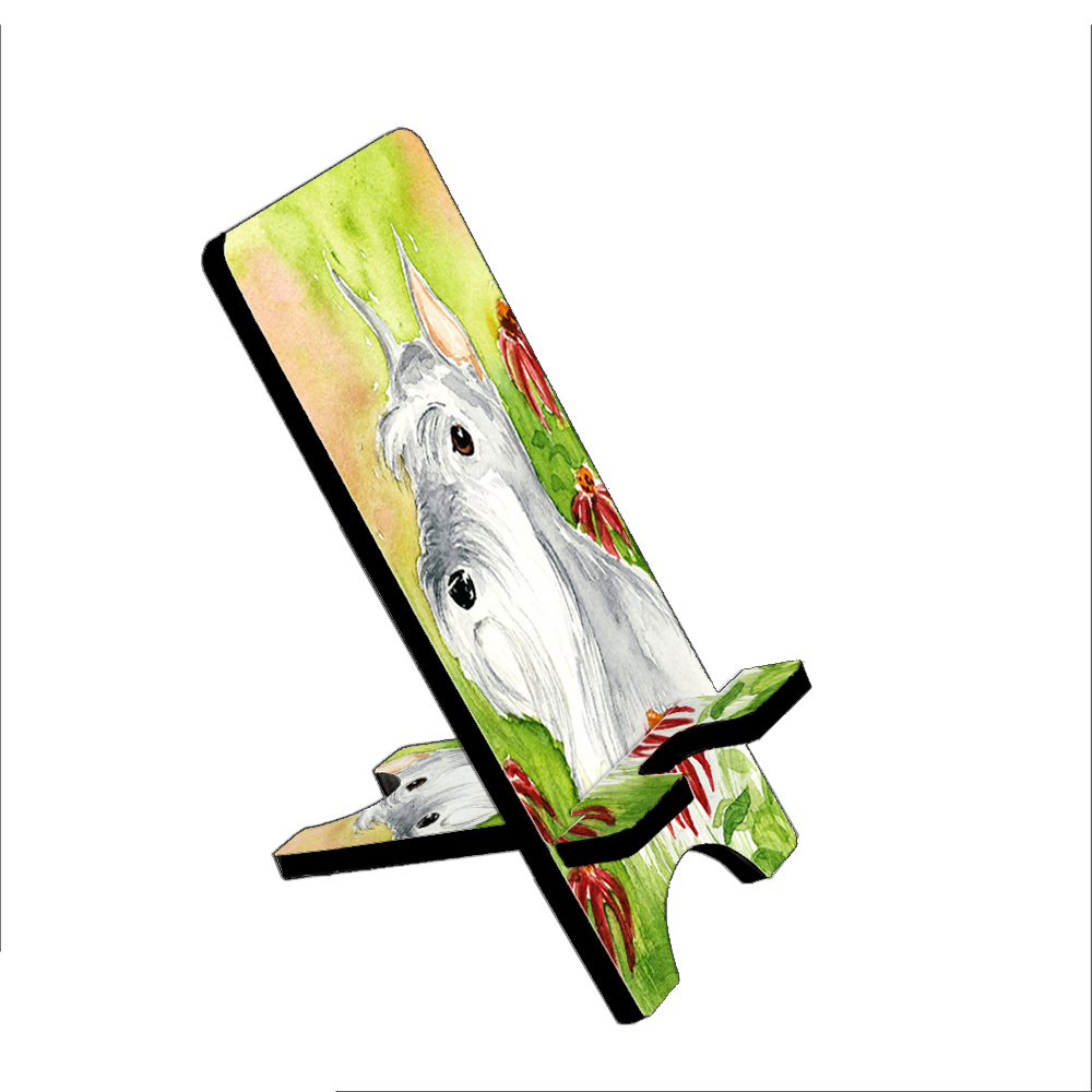 Miniature Schnauzer Art by Denise Every - KuzmarK Folding Stand fits iPad Mini iPhone Samsung Galaxy