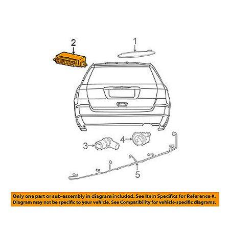 Chrysler Oem Pdc Backup Reverse Parking Park Aid Sensor Module