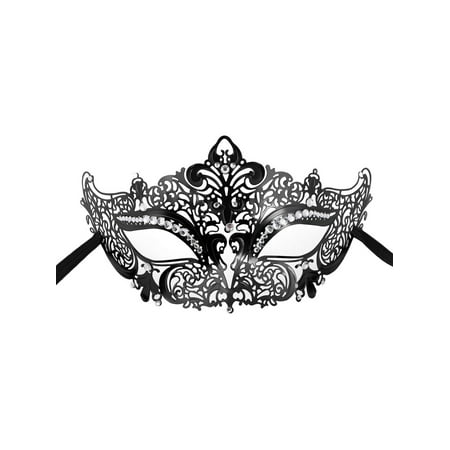 Women's Sexy Metal Laser Cut Mask Opera Prom Party Venetian Masquerade Mask (Masquerade Masks On A Stick Wholesale)