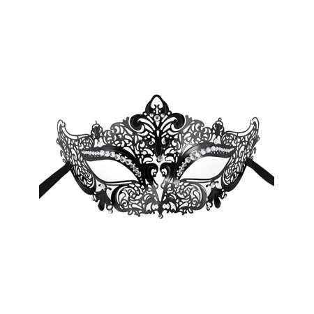 Women's Sexy Metal Laser Cut Mask Opera Prom Party Venetian Masquerade Mask - Mask At Party City