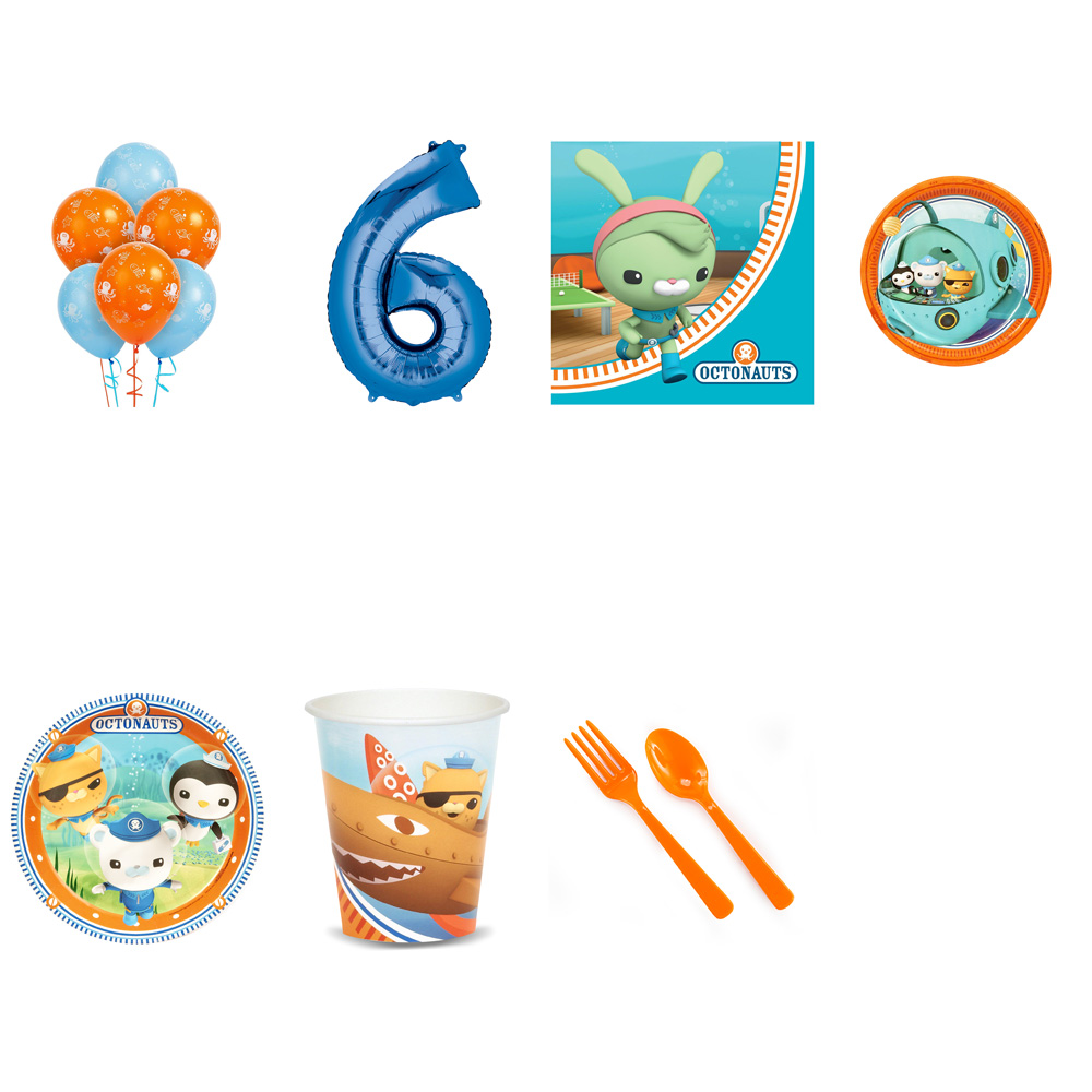 OCTONAUTS PARTY SUPPLIES PARTY PACK FOR 32 WITH BLUE #6 BALLOON