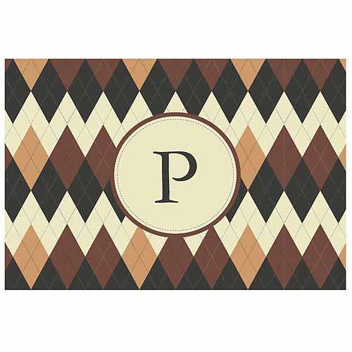 Personalized Argyle Doormat