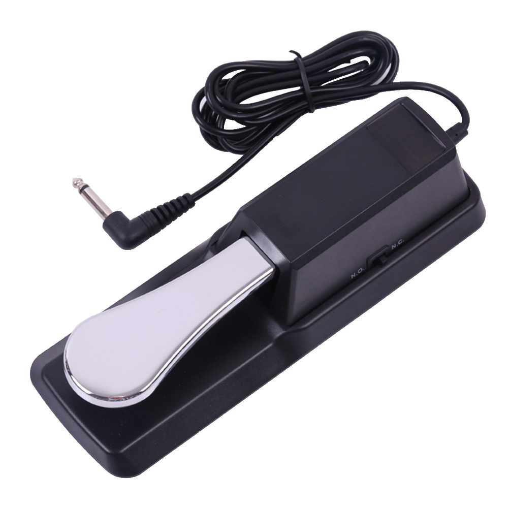 Universal Piano Keyboards Sustain Foot Pedal with Piano Style Action for Electronic Keyboards Digital Piano Compatible with Yamaha Roland Korg Behringer Moog (Black)