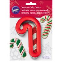 "Wilton Comfort Grip 4"" Cookie Cutter, Candy Cane 2310-644"