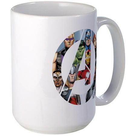 CafePress - Avengers Assemble Large Mug - 15 oz Ceramic Large Mug