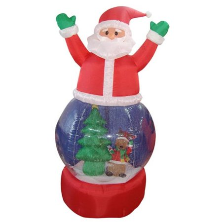 NorthLight 5 ft. Inflatable Santa Claus Snow Globe Lighted Christmas Yard Art Decoration
