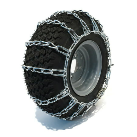 PAIR 2 Link TIRE CHAINS 23x6.5x12 fits many Yamaha Grizzly Kodiak Raptor ATV Quad by The ROP Shop