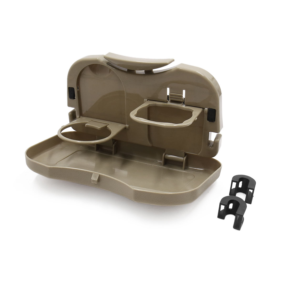Folding Auto Car Back Seat Table Drink Food Cup Tray Holder Stand Desk Beige