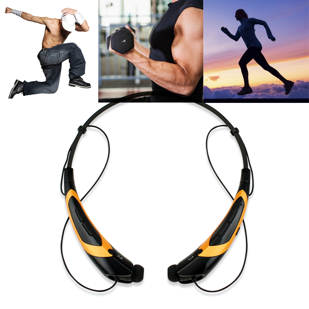 Duotone Sport Wireless Bluetooth Headset Headphone Stereo Handfree Sweat-Proof Universal Earphones Headphones For Running or Workout driving Gym