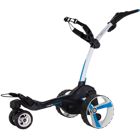 MGI Zip Navigator Lithium Battery Electric Golf Push Cart Swivel Caddie,
