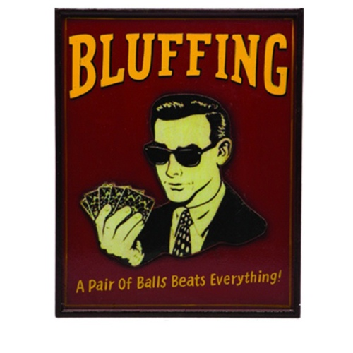 RAM Game Room Wall Decor - Bluffing