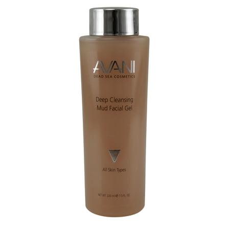 Avani Dead Sea Cosmetics Deep Cleansing Mud Facial Gel, 7.5 Fl Oz Deep Cleansing Hand Gel