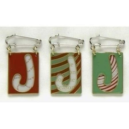 Set Of 4 Jesus Reason For The Season Religious Christmas Flip Pins 25774