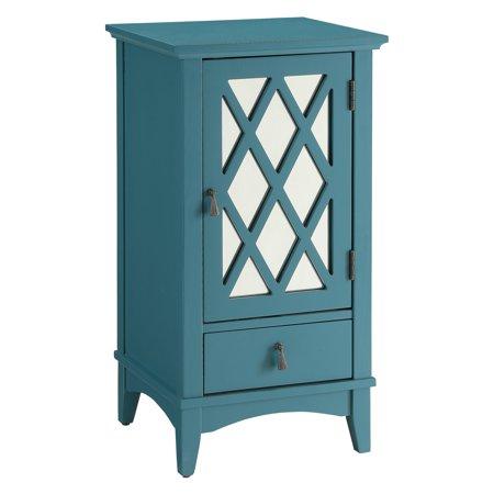ACME Chelsa Floor Cabinet, Teal