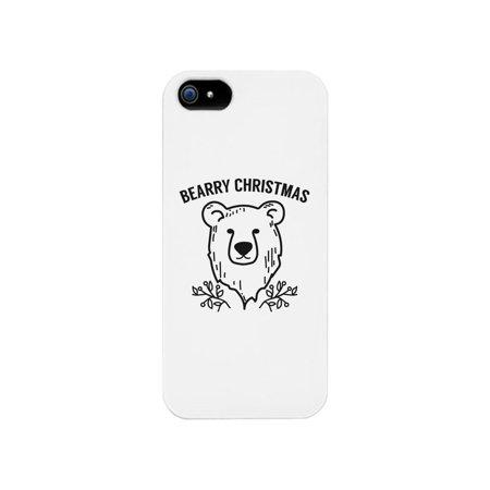 Bearry Christmas Bear White Phone Case (I Phone 5c Case Teddy Bear)