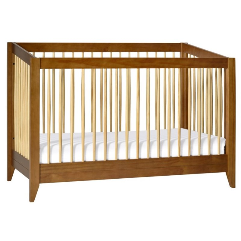Babyletto Sprout 4-in-1 Convertible Crib in Chestnut and Natural