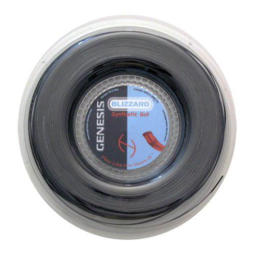Genesis 40-Feet Thunder Blast Tennis Racket String Set 16L//1.30mm Black