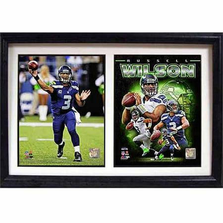 NFL Russell Wilson Seattle Seahawks 12x18 Double Frame