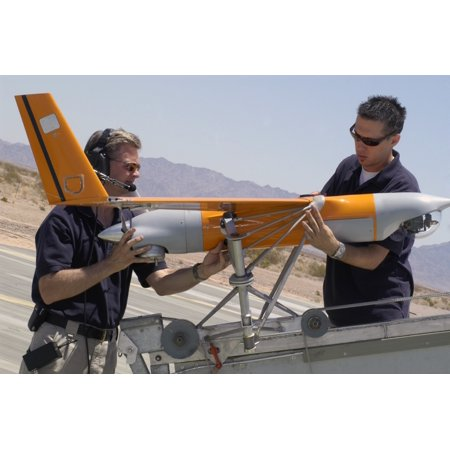 Engineers Mount A Scaneagle Unmanned Aerial Vehicle On A Catapult Launcher Poster Print