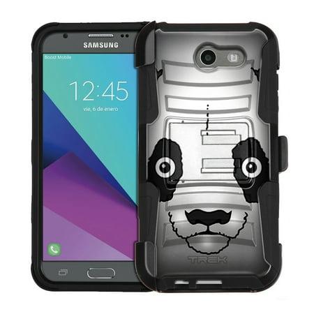 Samsung Galaxy J3 Sol 2 Armor Hybrid Case   Panda
