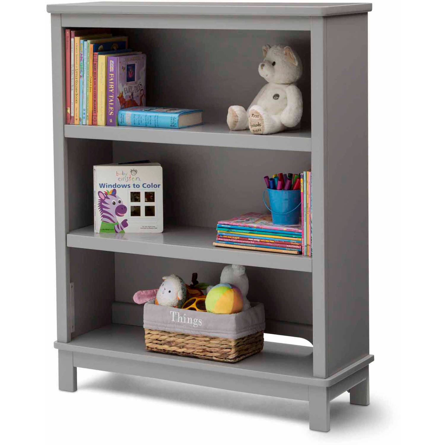 Delta Children's Products Epic Bookcase/Hutch, Gray