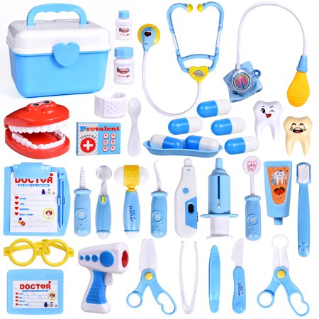 31 PCs Doctor Kit for kids Learning Resources Pretend Play Toys Doctor Set Role Play Costume Dress-Up F-240 - Kids Dress Up Doctor