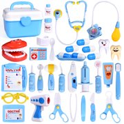 31 PCs Doctor Kit for kids Learning Resources Pretend Play Toys Doctor Set Role Play Costume Dress-Up F-240