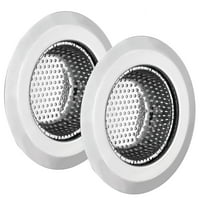 """Wideskall 4.5"""" Stainless Steel Large Wide Rim Sink Strainer for Kitchen Drain (Pack of 2)"""
