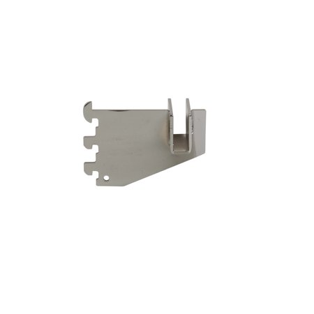 """Econoco - SLT/3 - 3"""" Chrome Hangrail Bracket to Hold Rectangular Tubing For Beacon Line Slots - Sold in Pack of 25"""