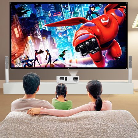 OUTAD YKS Reelable 120 Inch 16:9 PVC Home Cinema Movie Projector Projection Screen - image 6 of 13